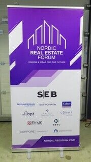 Roll up bänner - Nordic Real Estate Forum