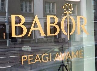 Reklaamkleebised klaasil - Babor
