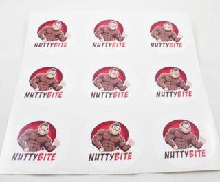 Nutty Bite reklaamkleebised