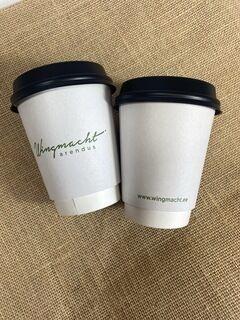 Logoga kohvitops - Vingmacht arendus