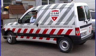 GSM auto kleebis