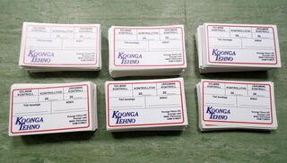 Koonga Tehno tootekleebised
