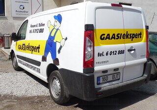 Gaasiekspert reklaamkleebised