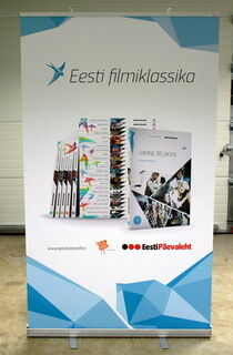 EPL leveä Roll-UP teline