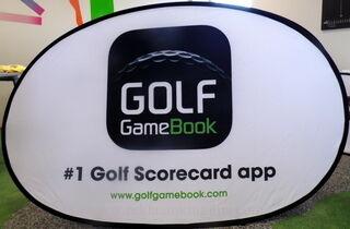 Ovaaliset Soft bannerit Golf GameBook