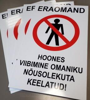 Varoituskyltti Eraomand