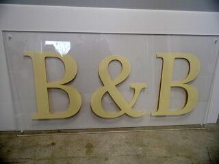 Pleksilasikyltti B&B