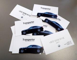 Transporter kahepoolsed visiitkaardid