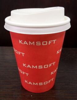 Ühekordne joogitops logoga Kamsoft