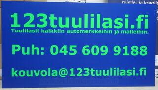 Sininen PVC kyltti 123 Tuulilasi