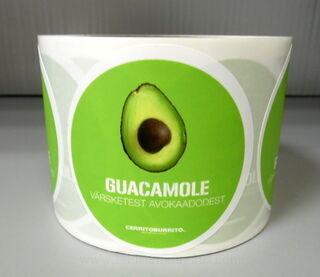 Etikettitarrat rullassa Guacamole
