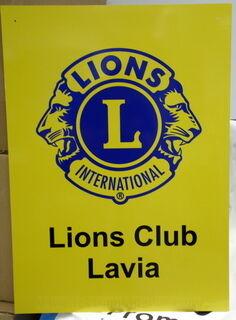 PVC kyltti tarralla Lions Club Lavia