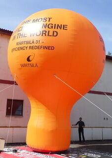 Ilmatäytteinen pallo 8 m