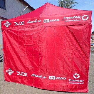 3x6 Pop up teltta logolla