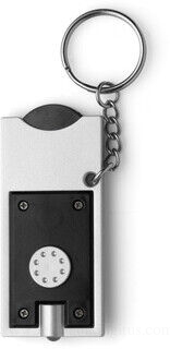 Key holder with coin (€0.50 size)