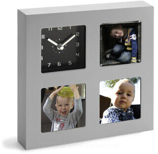 Clock and photo holder