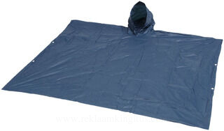Rain poncho with hood and pouch