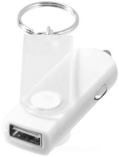 Swivel car adapter key chain 3. pilt