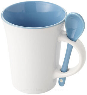 Dolce mug with spoon