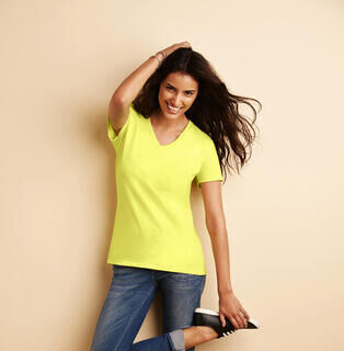 Premium Cotton Ladies V-Neck T-Shirt