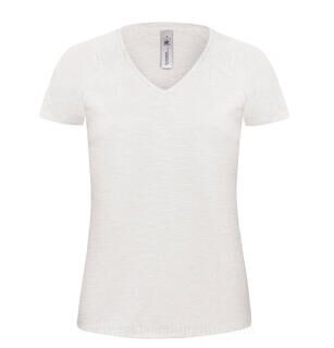 Women V-Neck Slub
