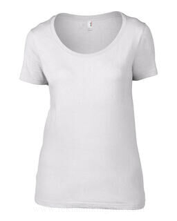 Women`s Sheer Scoop Tee