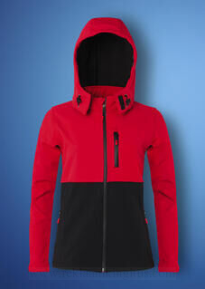 Ladies Hooded Contrast Shoftshell 2. pilt