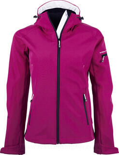 Ladies Hooded Fashion Softshell Jacket 3. pilt
