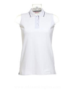 Ladies Sports Sleeveless Polo.