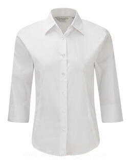 Fitted Blouse with 3/4 Sleeves