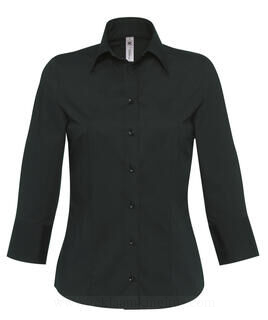 Poplin Blouse with 3/4 Sleeves