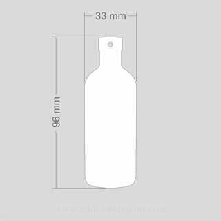 Helkur pudel 33x96mm