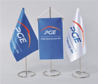 Advertasing flag to table 24x15cm