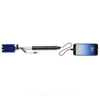 Selfie stick with power bank 2200 mAh