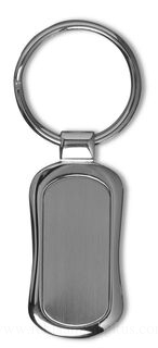 Elongated shaped keyring, in presentation box