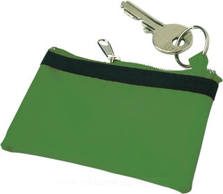Key wallet with zipper
