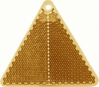 Helkur kolmnurk 67x59mm oranž